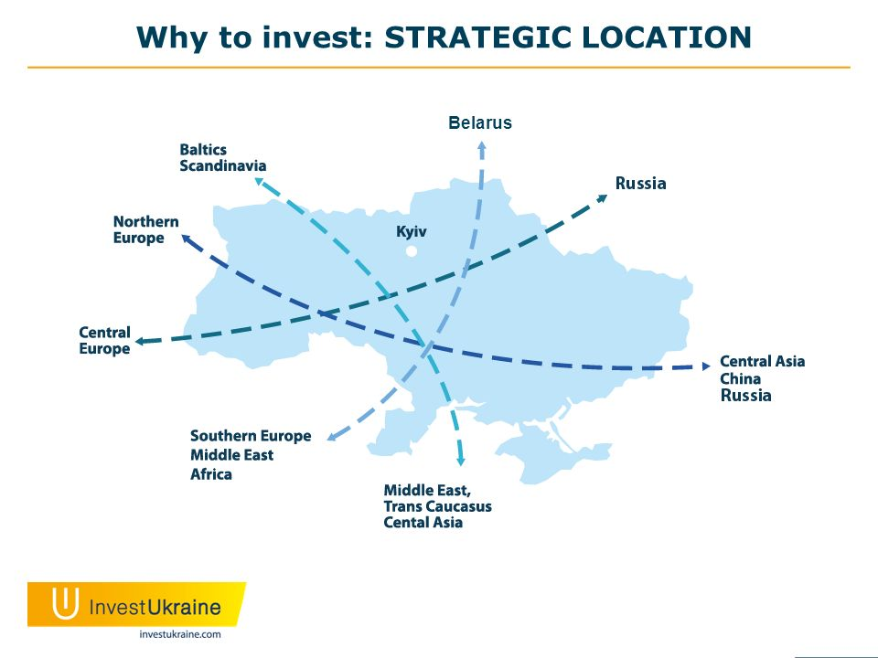 Why to invest: STRATEGIC LOCATION Belarus