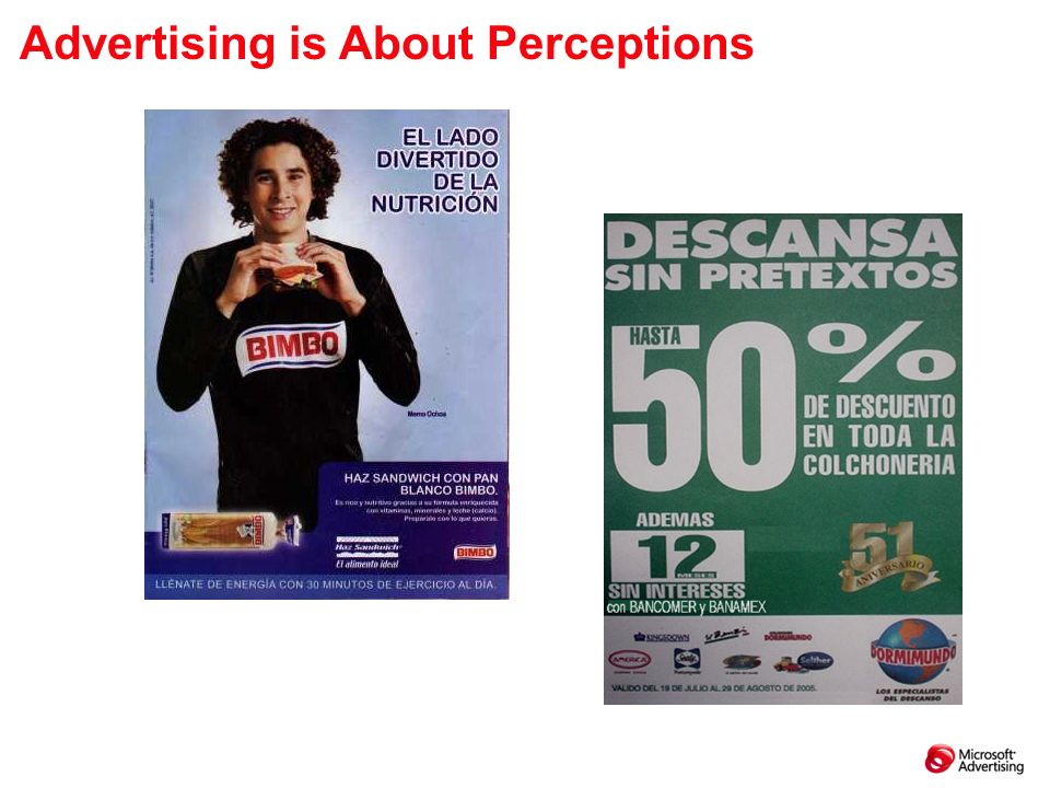 Advertising is About Perceptions
