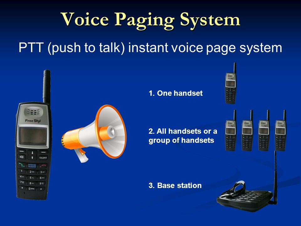 Voice Paging System PTT (push to talk) instant voice page system 3.