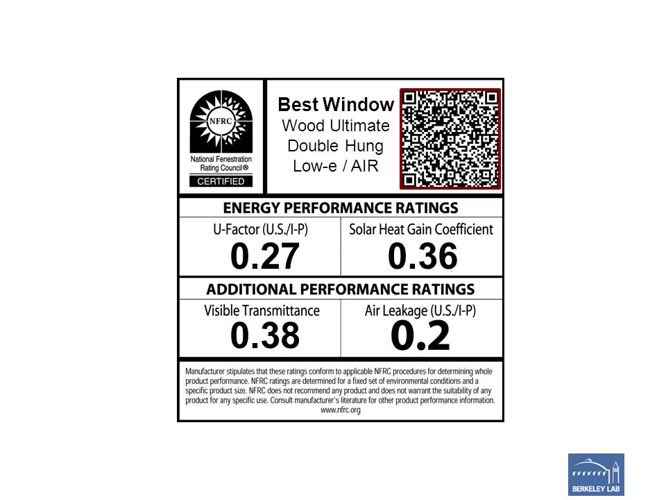 Best Window Wood Ultimate Double Hung Low-e / AIR