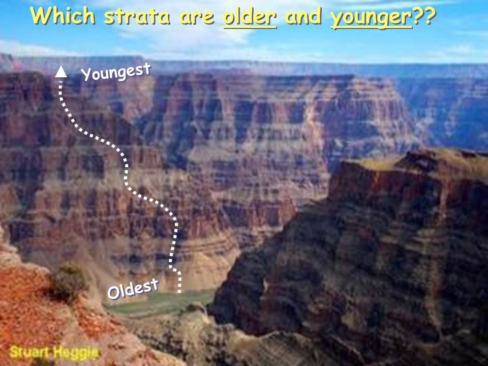 Which strata are older and younger Oldest Youngest