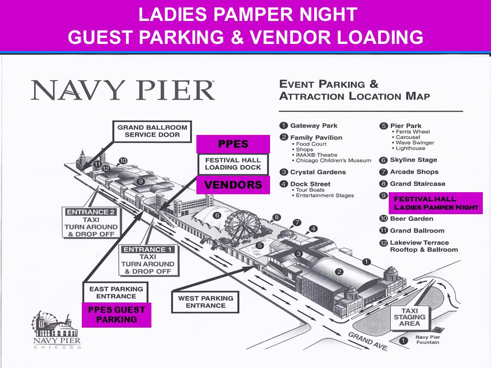 LADIES PAMPER NIGHT GUEST PARKING & VENDOR LOADING PPES VENDORS PPES GUEST PARKING FESTIVAL HALL Ladies Pamper Night