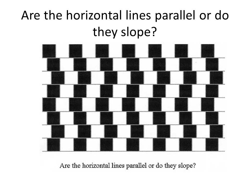 Are the horizontal lines parallel or do they slope