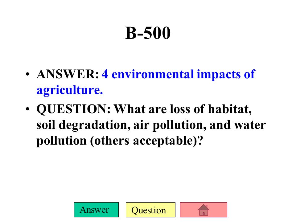 Question Answer B-400 ANSWER: A pest control system that uses pesticides along with cultural and biological strategies.