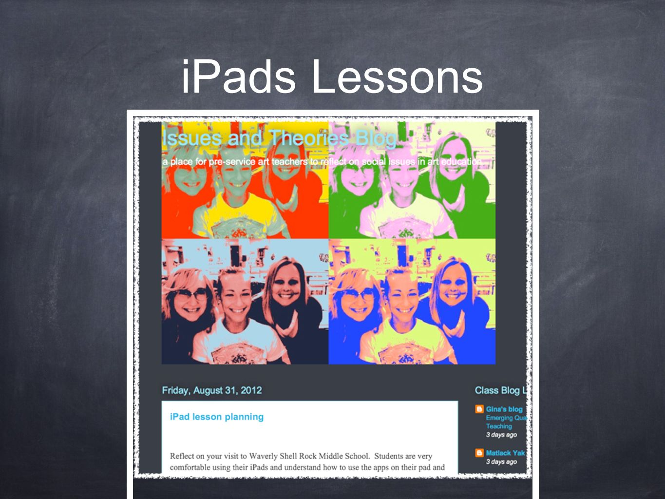 iPads Lessons