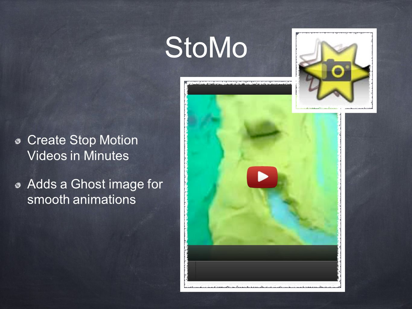 StoMo Create Stop Motion Videos in Minutes Adds a Ghost image for smooth animations
