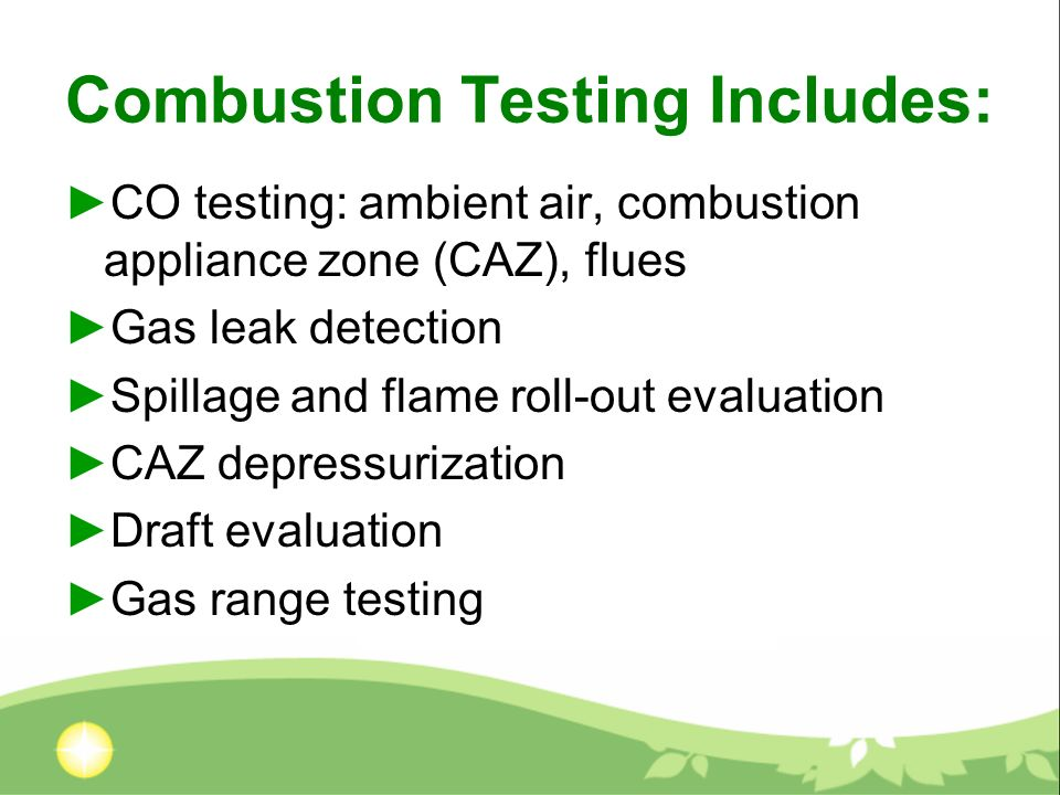 Which WARM Customers Get Combustion Testing.