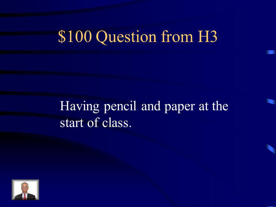 $500 Answer from H2 What is minor