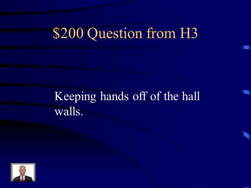 $100 Answer from H3 What is Ready
