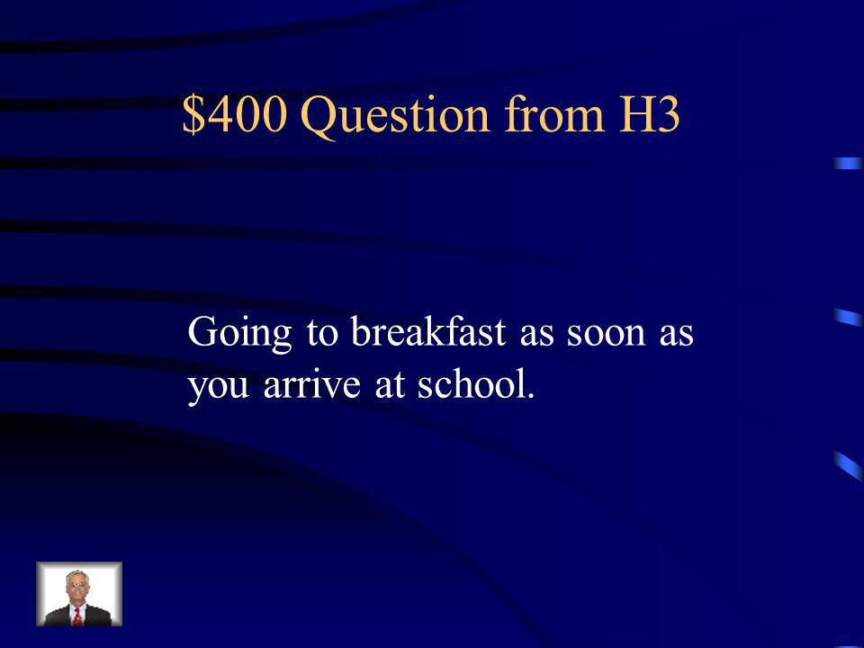 $300 Answer from H3 What is Responsible
