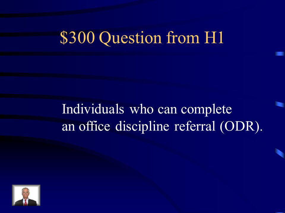 $200 Answer from H1 What is Major