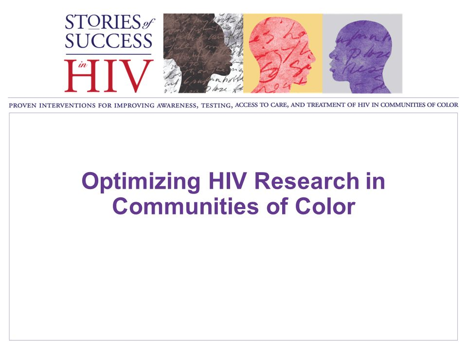 Optimizing HIV Research in Communities of Color
