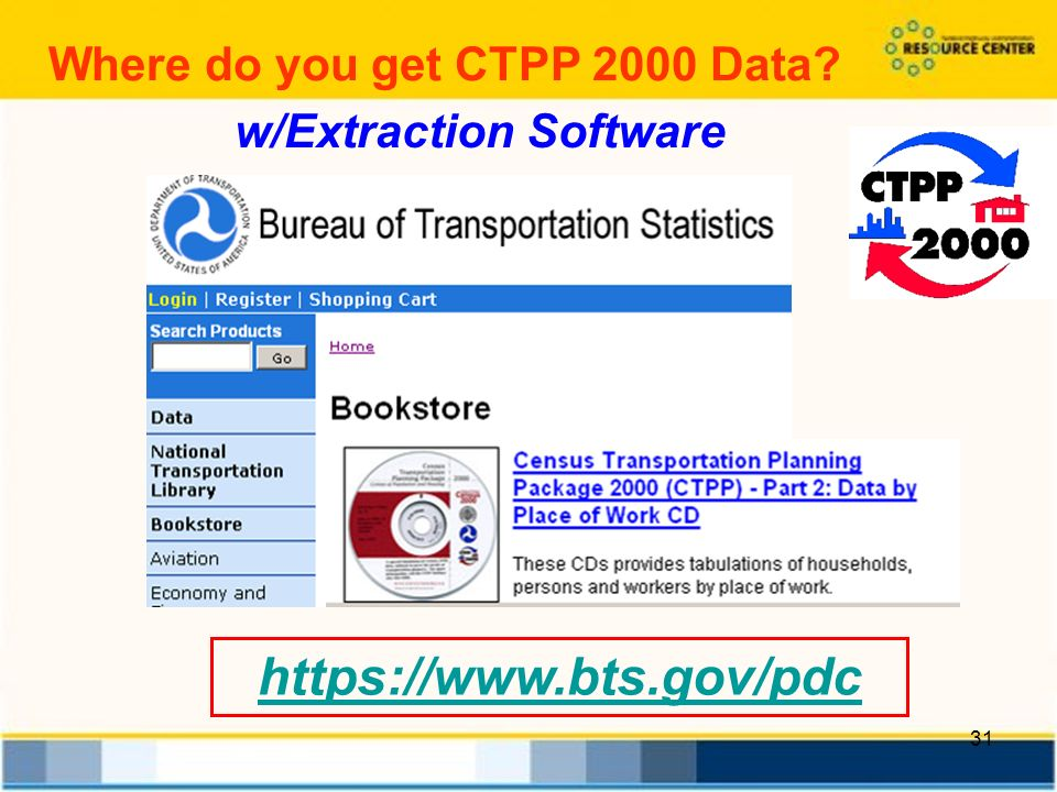 31   w/Extraction Software Where do you get CTPP 2000 Data