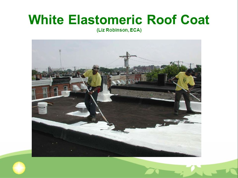 White Elastomeric Roof Coat (Liz Robinson, ECA)