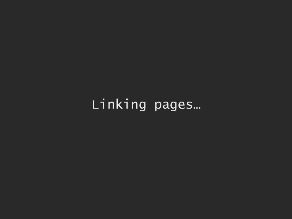 Linking pages…