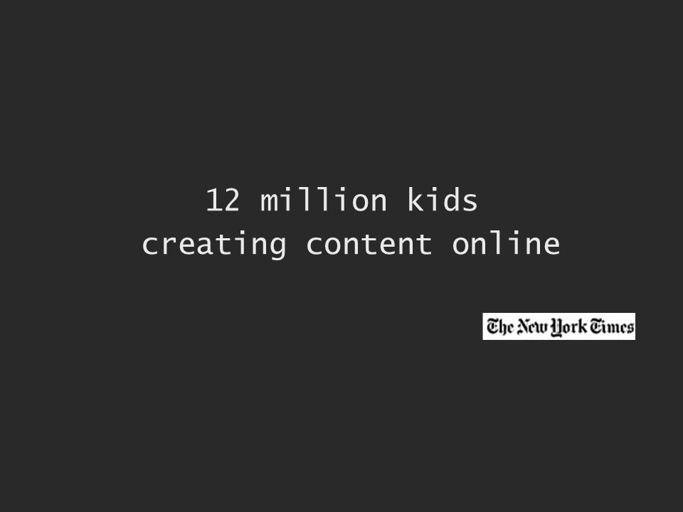 12 million kids creating content online