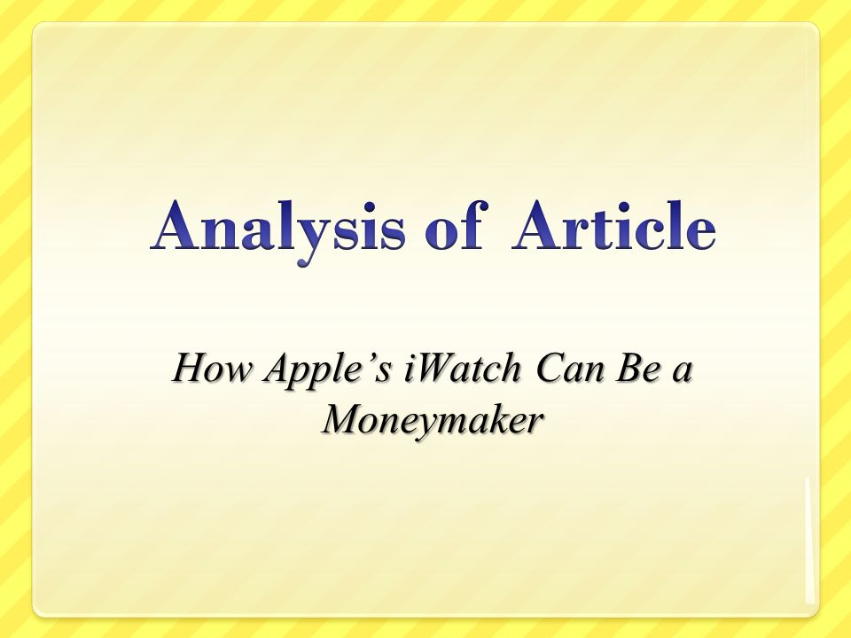 How Apples iWatch Can Be a Moneymaker
