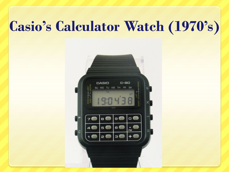 Casios Calculator Watch (1970s)