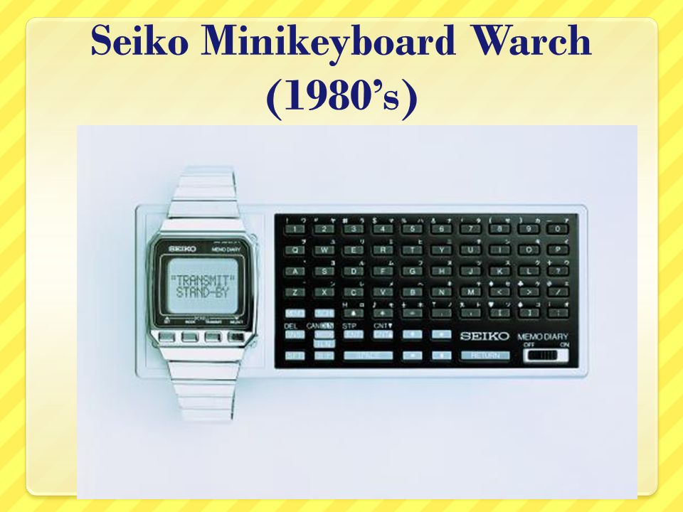 Seiko Minikeyboard Warch (1980s)