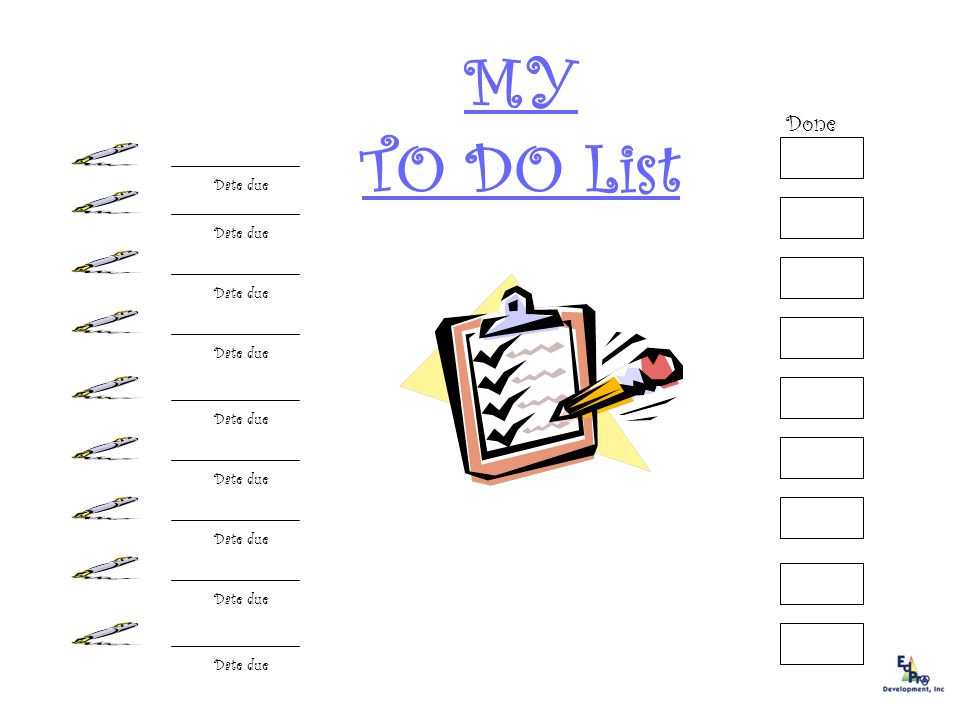 TYPES ~ PICTURE CHECKLISTS ~ SYMBOL CHECKLISTS ~ TASK CHECKLISTS ~AUDIO-TAPED LISTS ~ OBJECT CHECKLISTS ~ APPOINTMENT BOOKS