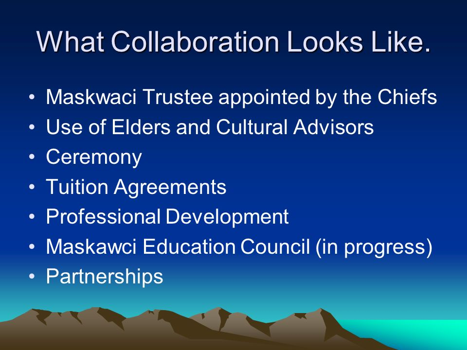 What Collaboration Looks Like.