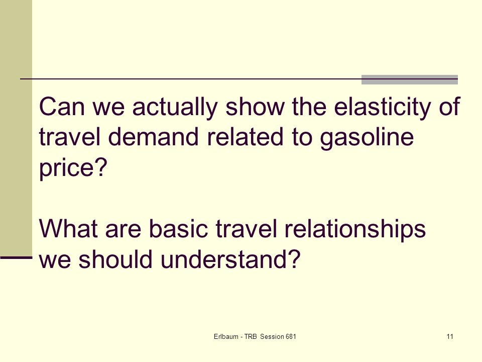 Erlbaum - TRB Session Can we actually show the elasticity of travel demand related to gasoline price.