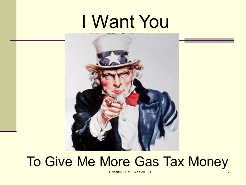 Erlbaum - TRB Session I Want You To Give Me More Gas Tax Money