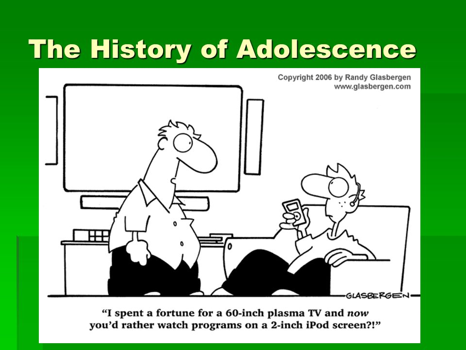 The History of Adolescence