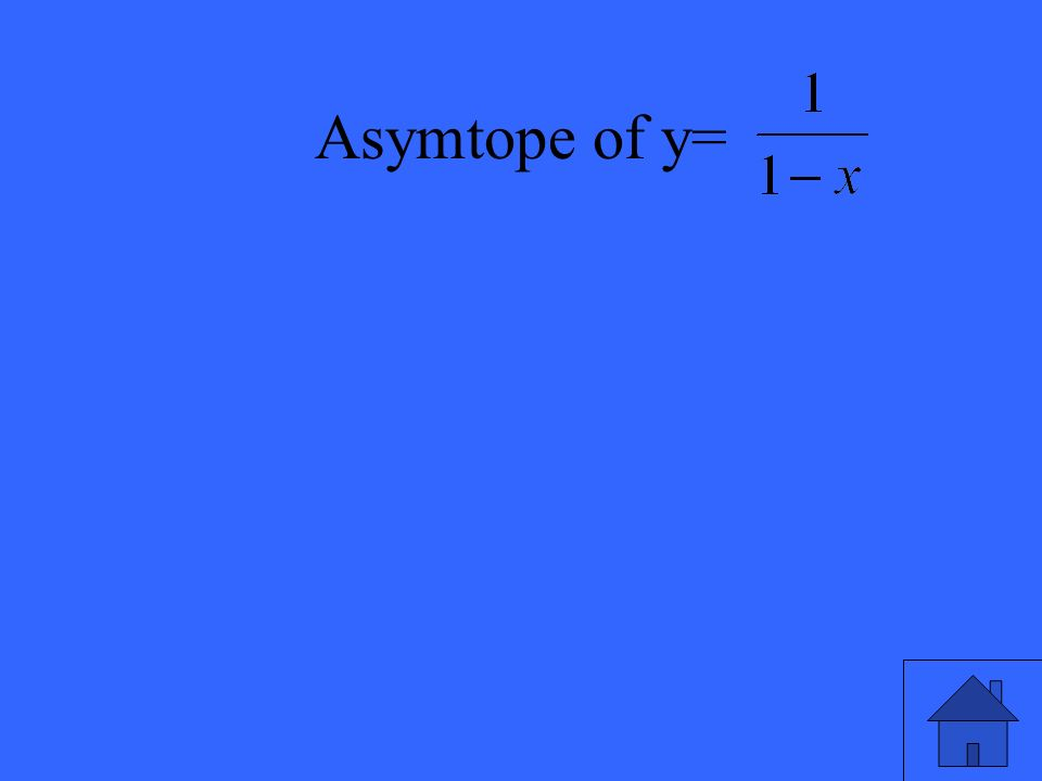Asymtope of y=