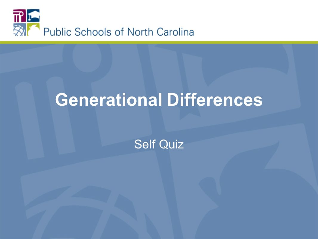Generational Differences Self Quiz