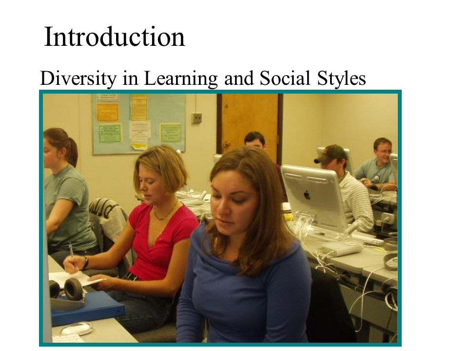 Introduction Diversity in Learning and Social Styles