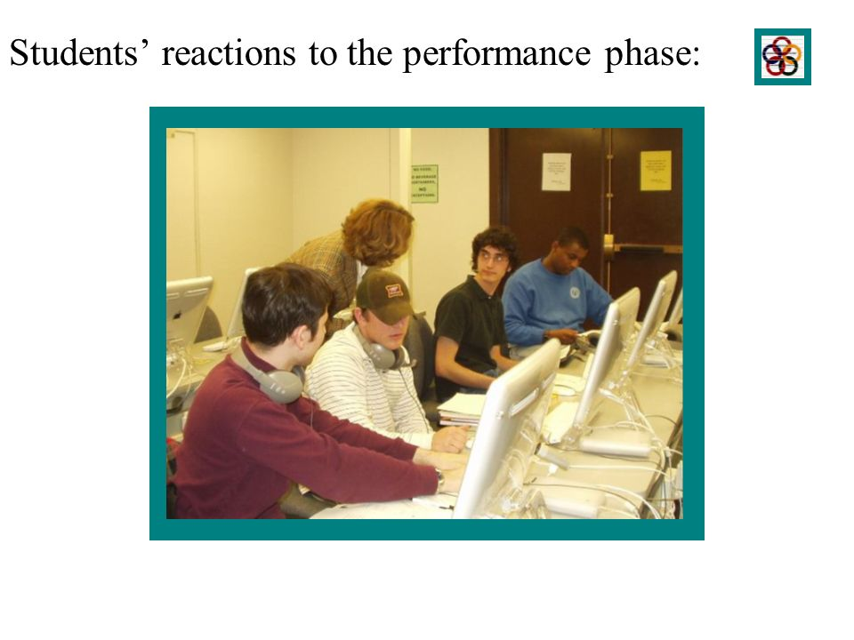 Students reactions to the performance phase: