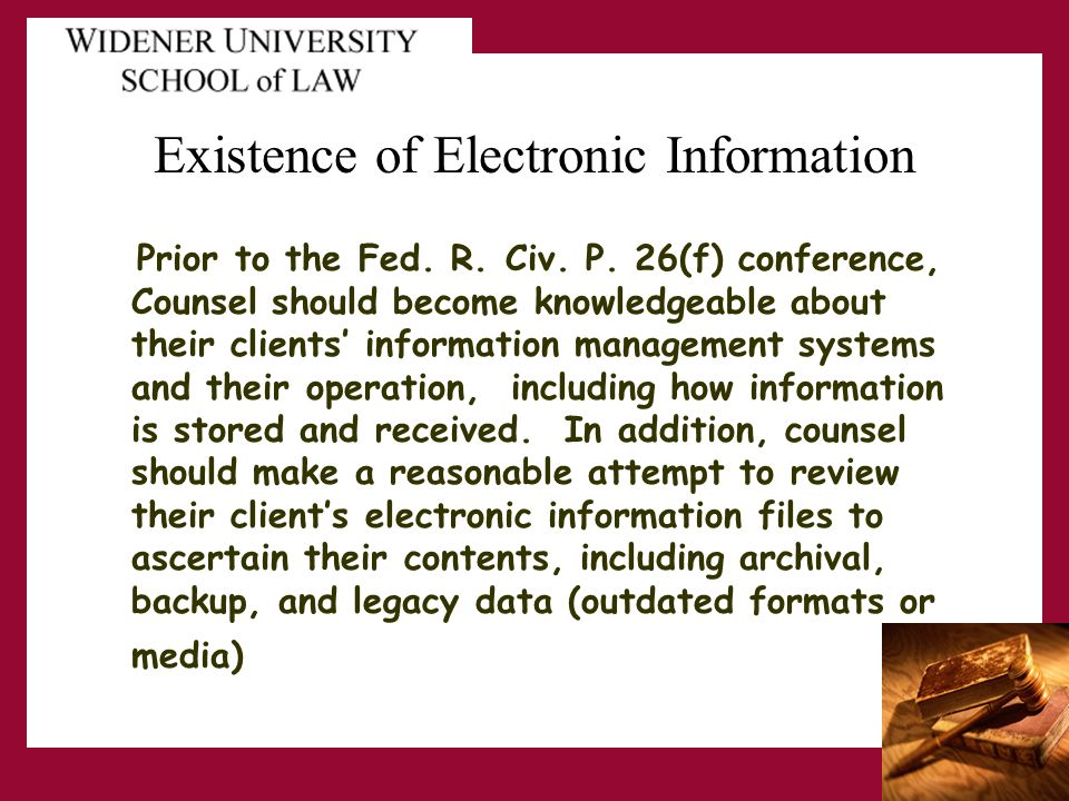 Existence of Electronic Information Prior to the Fed.