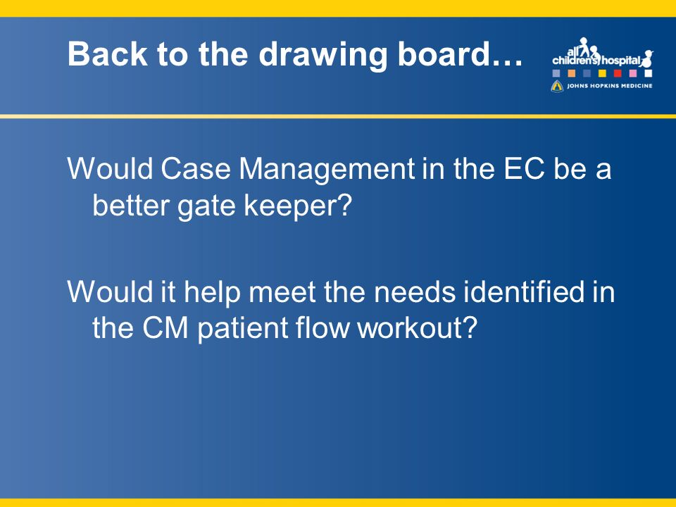 Would Case Management in the EC be a better gate keeper.