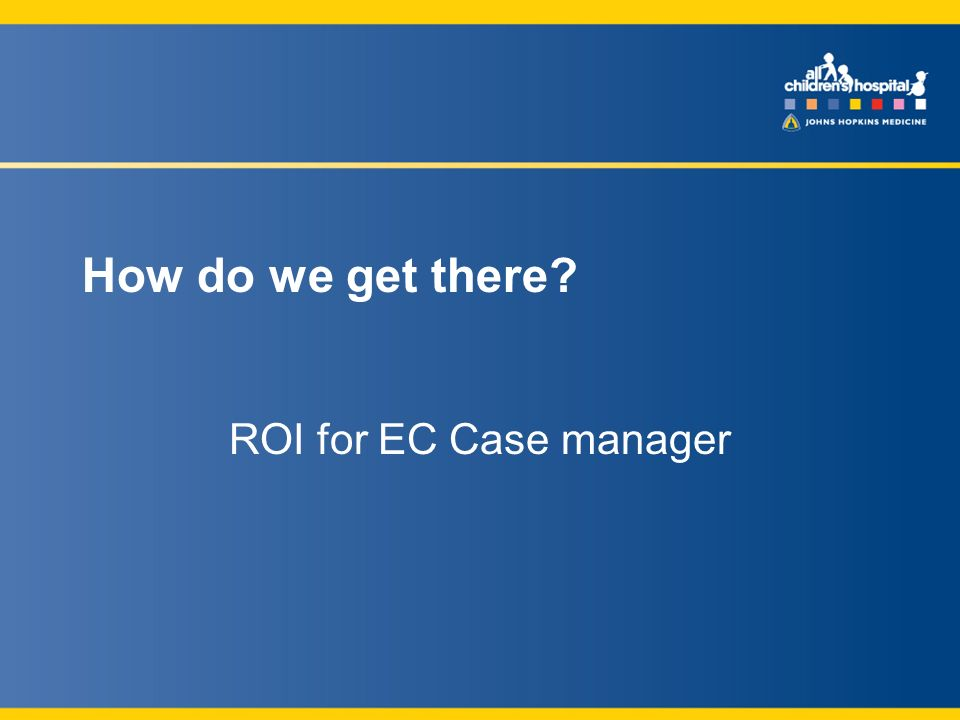 How do we get there ROI for EC Case manager