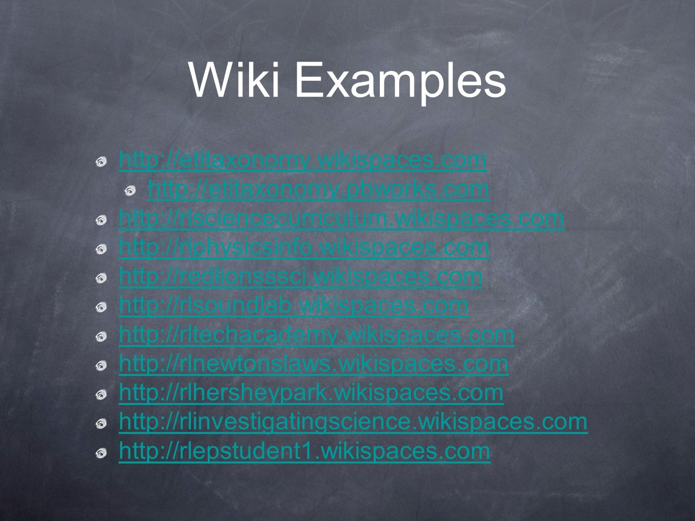Wiki Examples
