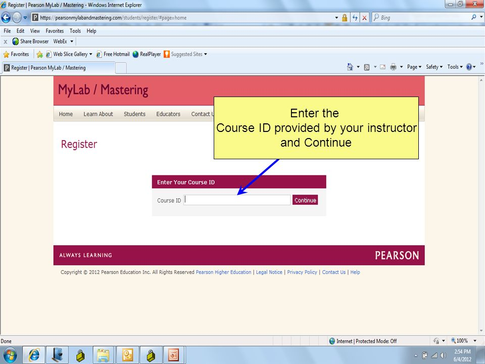 Go to   you can also go to   Click HERE to watch a REGISTRATION VIDEOHERE Click Student under Register