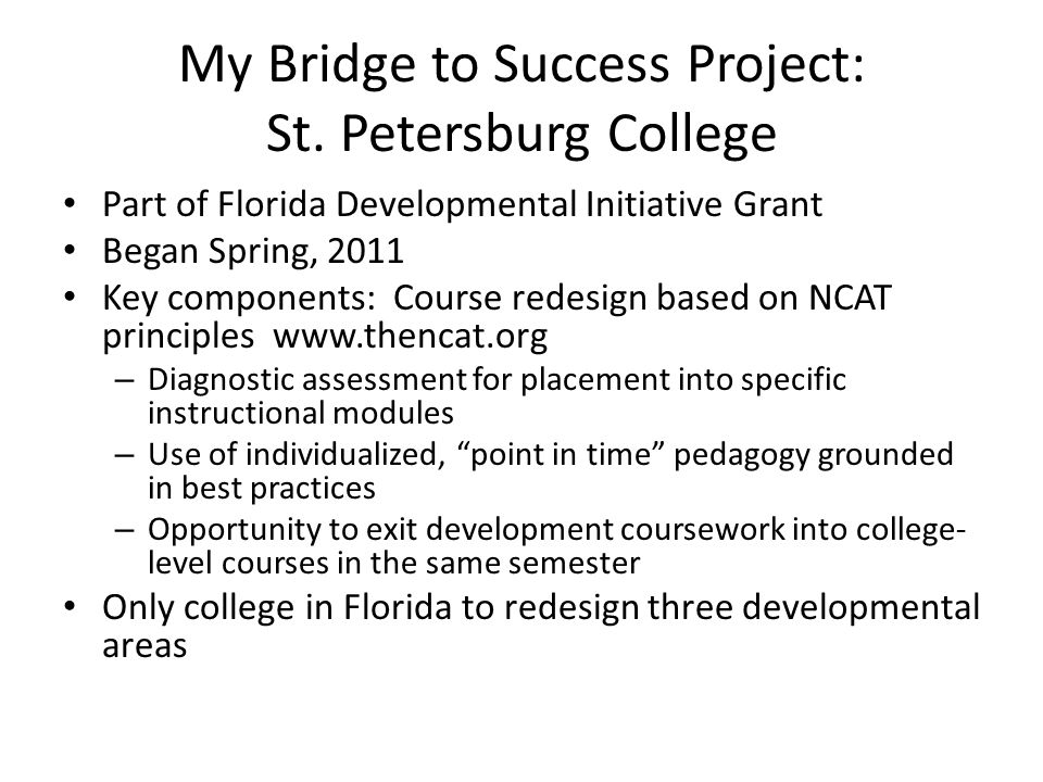 My Bridge to Success Project: St.
