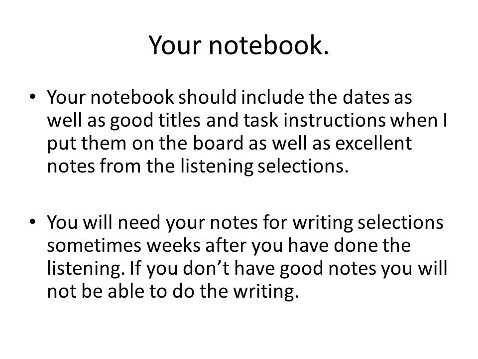 Your notebook.