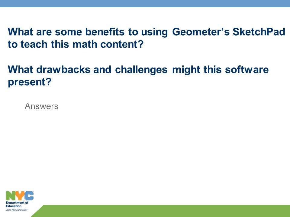 What are some benefits to using Geometers SketchPad to teach this math content.