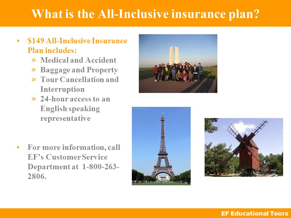 EF Educational Tours What is the All-Inclusive insurance plan.
