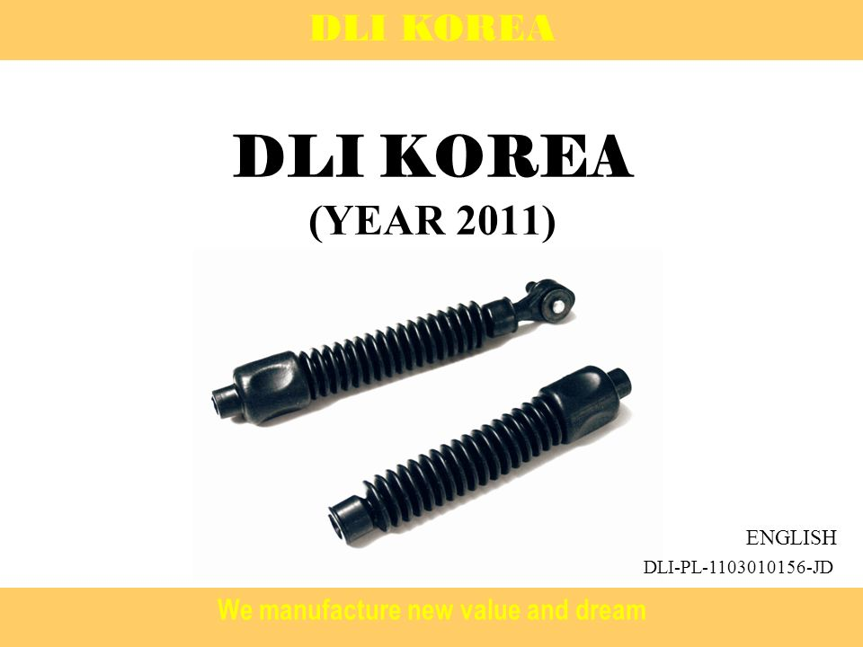 We manufacture new value and dream DLI KOREA (YEAR 2011) DLI KOREA ENGLISH DLI-PL JD