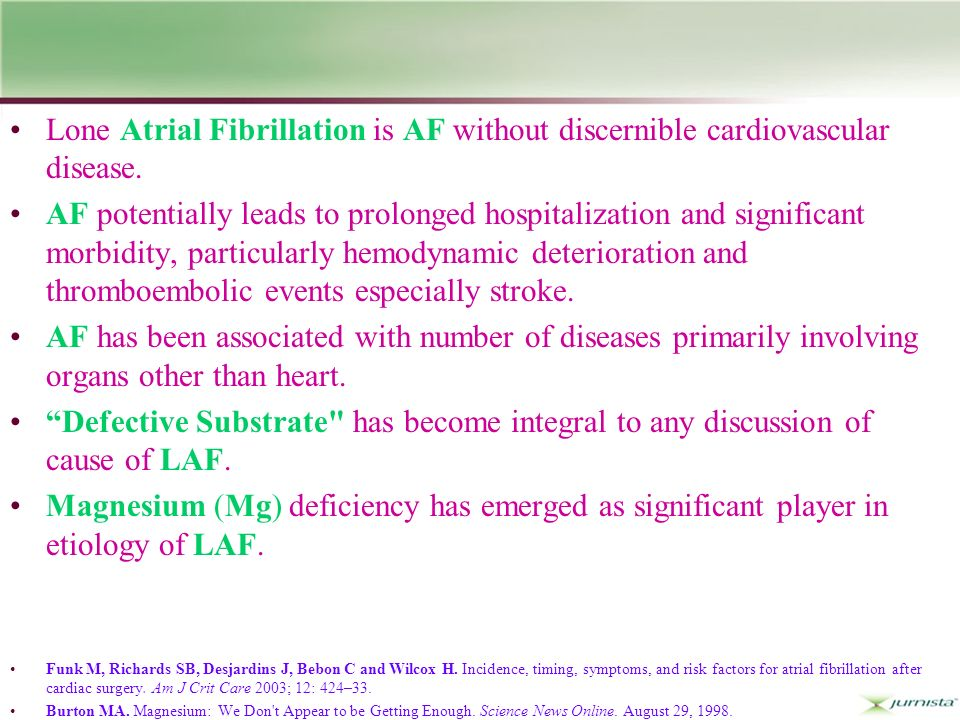 Lone Atrial Fibrillation is AF without discernible cardiovascular disease.