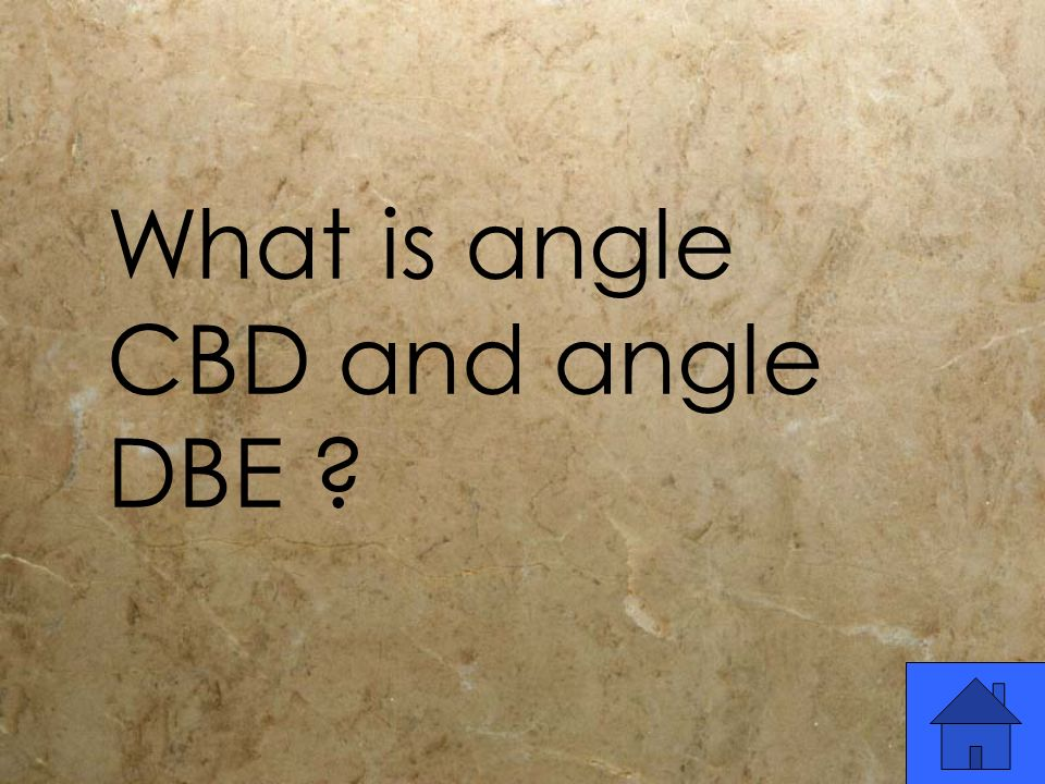 What is angle CBD and angle DBE