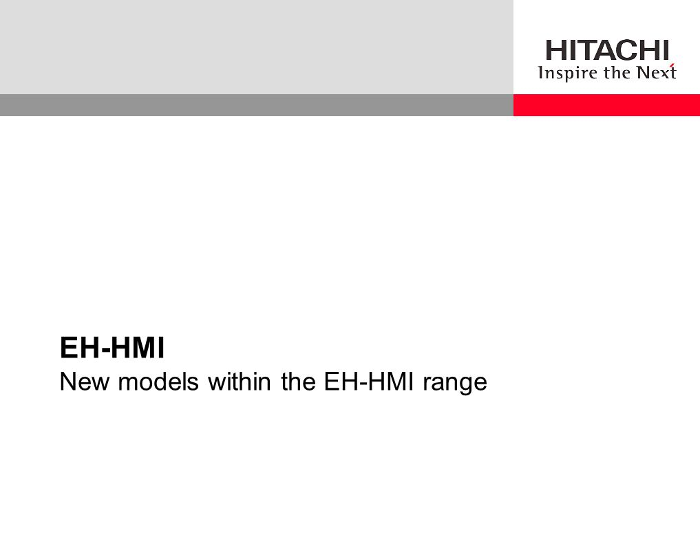 EH-HMI New models within the EH-HMI range