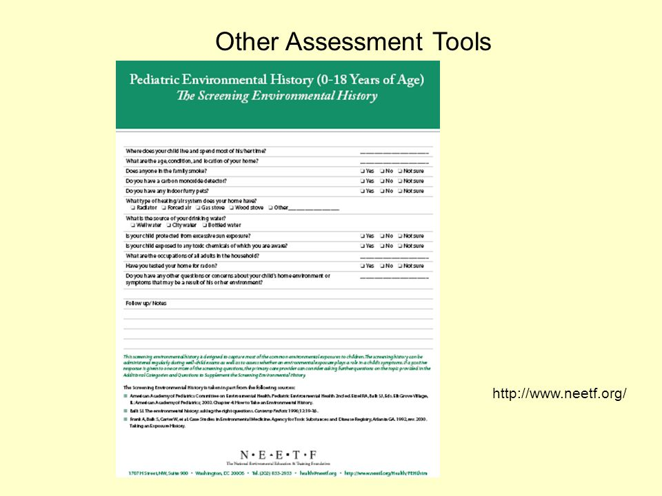Other Assessment Tools http://www.neetf.org/