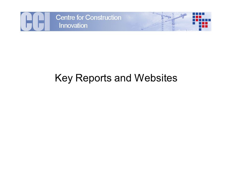 Key Reports and Websites
