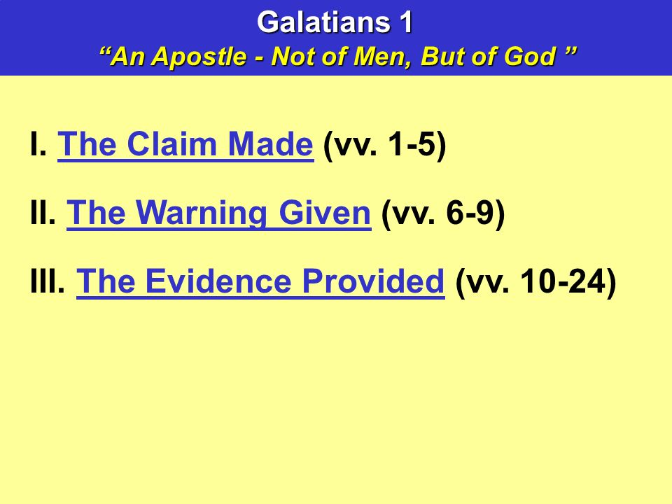 I. The Claim Made (vv. 1-5) II. The Warning Given (vv.