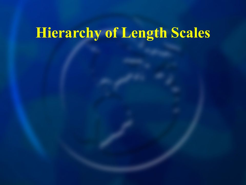 Hierarchy of Length Scales