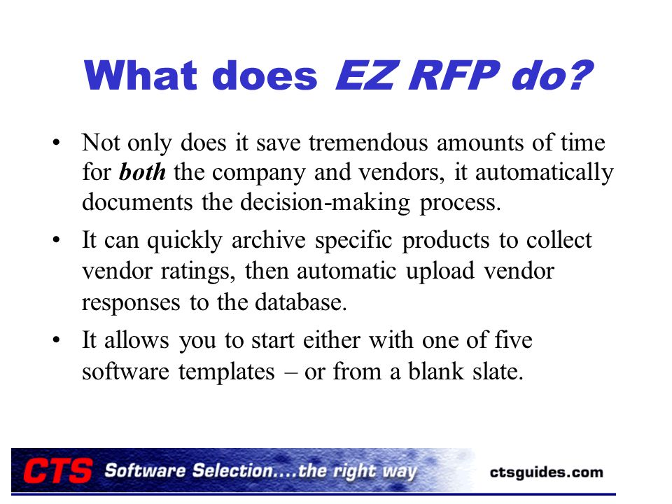What does EZ RFP do.